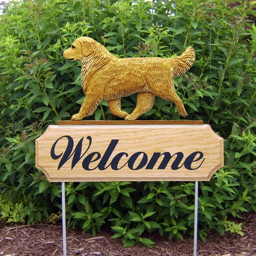 Dog Signs / Garden Stakes: Golden Retriever Dog Sign