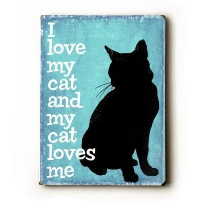 Cat Art / Cat Print: I Love My Cat and My Cat Loves Me