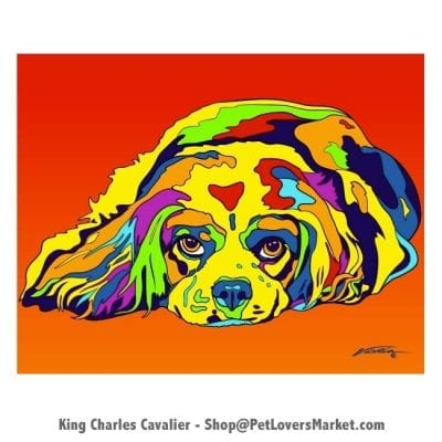 Cavalier King Charles Spaniel Painting. Cavalier King Charles Spaniel Pictures and Cavalier King Charles Spaniel Art.