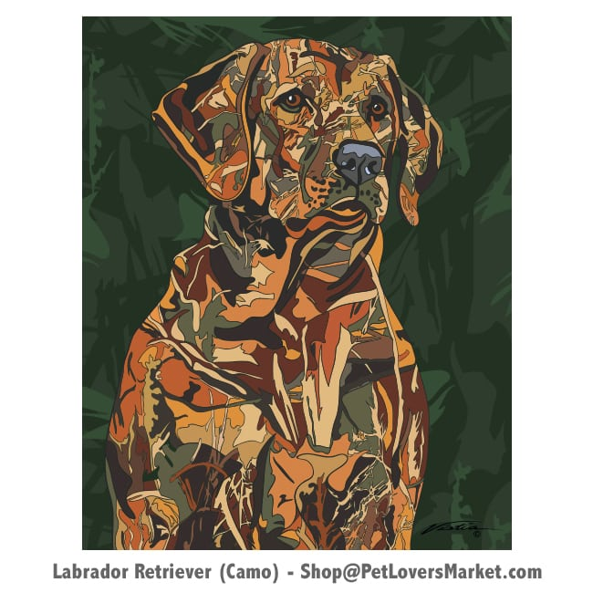 Labrador Pictures and Labrador Art for Sale. Labrador painting (Camouflage) by Michael Vistia.
