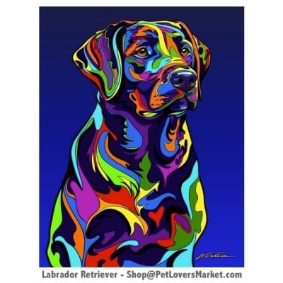 Labrador Pictures and Labrador Art for Sale. Labrador art and dog painting by Michael Vistia.