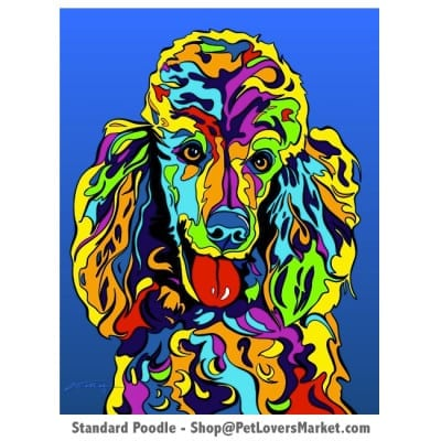 Poodle Painting. Poodle art by Michael Vistia.