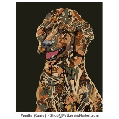 Poodle Art. Poodle painting by Michael Vistia