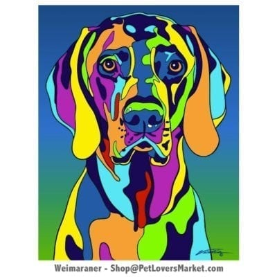 Weimaraner painting. Weimaraner art by Michael Vistia.