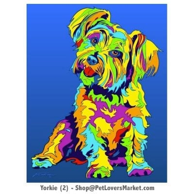Yorkie painting. Yorkie art by Michael Vistia.