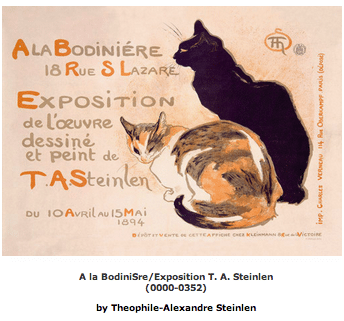 Cat Art: A la BodiniSre Exposition by Theophile-Alexandre Steinlen