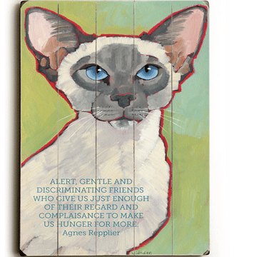 """Alert, gentle and discriminating friends who give us just enough of their regard and complaisance to make us hunger for more."" - Agnes Repplier - cat quotes and cat art as gifts for cat lovers"