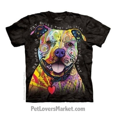 Dean Russo T-shirts: Beware of Pitbulls / Pitbull Art.