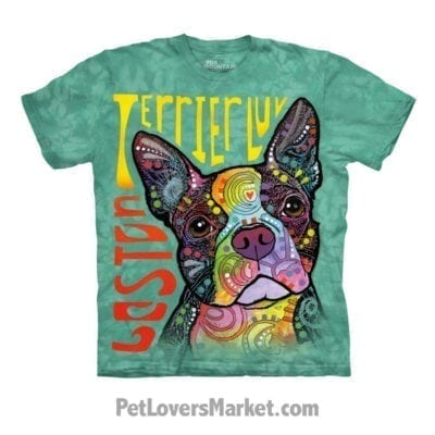 Dean Russo T-shirts: Boston Terrier Love.