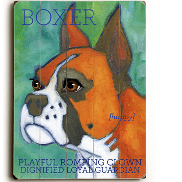 Boxers - Dog signs with Dog Breeds. Gifts for Dog Lovers. Wooden sign.