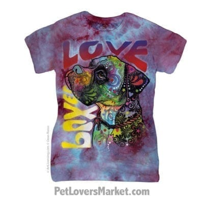 Dean Russo T Shirts: Boxer Love (Womens)