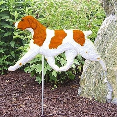 Brittany Spaniel Statue (Orange): Dog Statues and Garden Statues