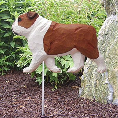Bulldog Statue (Red): Dog Statues and Garden Statues