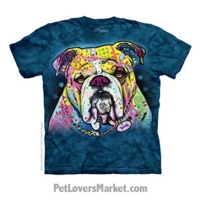 Dean Russo T-Shirts: Bulldog Love (Bulldog T Shirt)