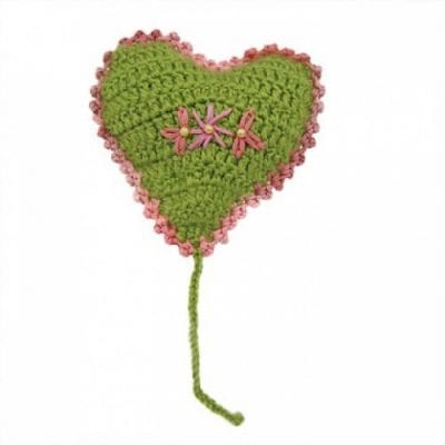 Green Heart Cat Toy with Catnip for Cats