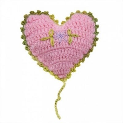 Pink Heart Cat Toy with Catnip for Cats