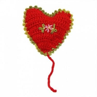 Red Heart Cat Toy with Catnip for Cats