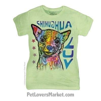 Dean Russo T-shirts: Chihuahua Love (Women's)
