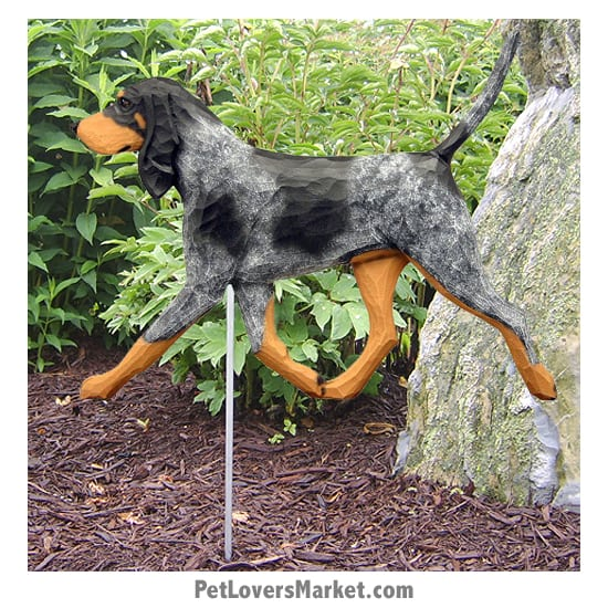 Bluetick Coonhound Dog Sign / Yard Sign / Garden Stake. Garden Accents and Gifts for Dog Lovers. Perfect for Home and Garden Decor. Part of our collection of yard signs and garden accents -- with dog breeds. Also use for outdoor accents, unique garden statues, garden statues online, best garden decor, garden stake decor, decorative garden stake, outdoor home accents, unique garden decor, outdoor home decor. Features Bluetick Coonhound dog breed.