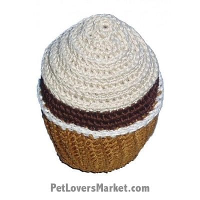 Vanilla Swirl Cupcake: Crochet Dog Toys, Organic Dog Toys, Dog Teeth Cleaning, Organic Cotton, Dog Toys, Cool Dog Toys, Hip Doggie, Dental Toys.