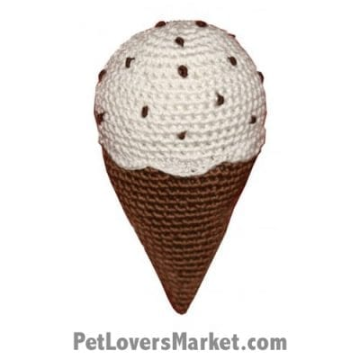 Chocolate Chip Ice cream: Crochet Dog Toys, Organic Dog Toys, Dog Teeth Cleaning, Organic Cotton, Dog Toys, Cool Dog Toys, Hip Doggie, Dental Toys.