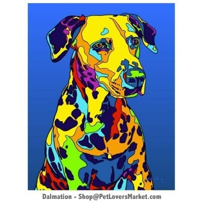 Dalmatian Pictures: Dalmatian Art by Michael Vistia.