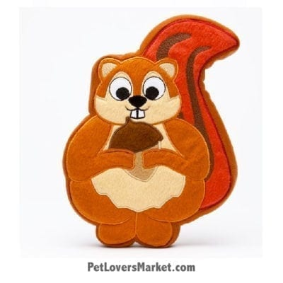 Dog Squeaky Toy: Sadie the Squirrel PrideBites dog toy.