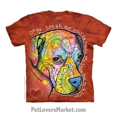 Dean Russo T-shirts with Dog Quotes: Dogs Speak