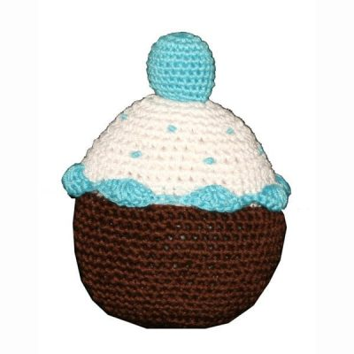 Blueberry Cupcake: Organic Crochet Dog Toys