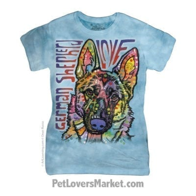 Dean Russo T-Shirts: German Shepherd Love (Women's)
