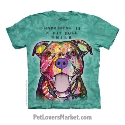 Dean Russo T-Shirts: Happiness is a Pitbull Smile