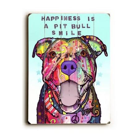 Pitbull Dog Quotes Happiness Is A Pitbull Smile  Dean Russo Dog Art