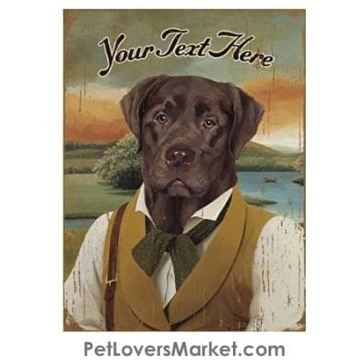 Brown Lab - Personalized Dog Gifts