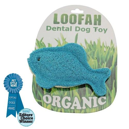 Loofah blue fish all natural organic loofah dental dog toy for Blue fish dental