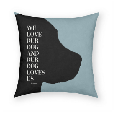 Throw Pillows With Dog Sayings : Decorative Pillows with Dog Quotes