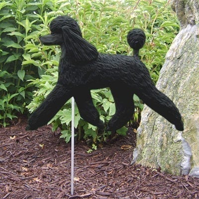Poodle Statue (Black): Dog Statues and Garden Statues