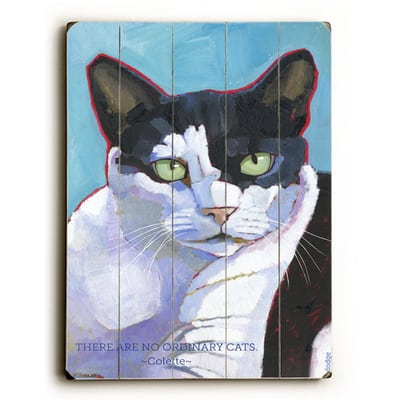 Cat Poster: There Are No Ordinary Cats - Colette Quotes