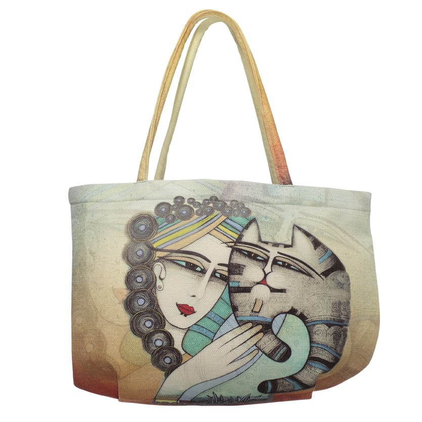 Tenderness Cat Tote by Albena (Bubble Bag)
