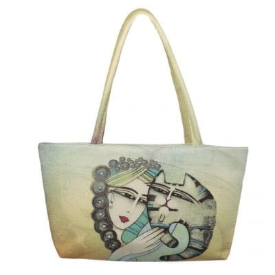 Tenderness Cat Tote by Albena (Square Bag)