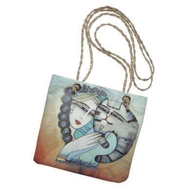 Tenderness Cat Tote by Albena (Crossbody Handbag)