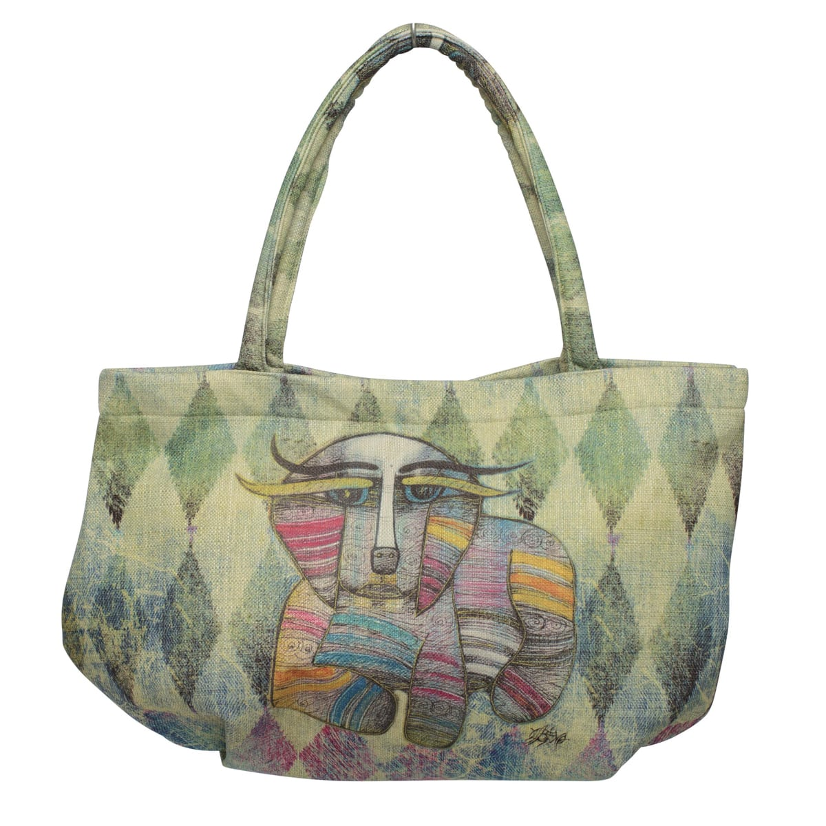 Totes for Dog Lovers - Bubble Handbag with Dog Art by Albena