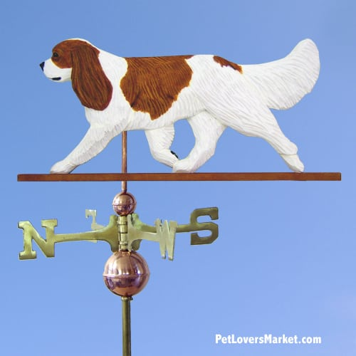 Weathervanes: Cavalier King Charles Dog Weathervane for Roof and Garden Decor. Weathervane made in USA. Gifts for Dog Lovers. (Blenheim)