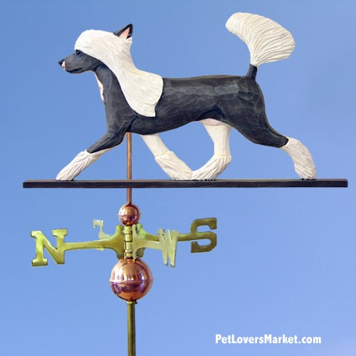 Weathervanes: Chinese Crested Dog Weathervane for Roof and Garden Decor. Weathervane made in USA. Gifts for Dog Lovers. (Standard)
