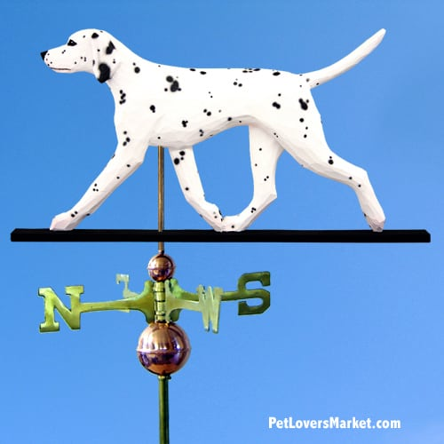 Weathervanes: Dalmatian Dog Weathervane for Roof and Garden Decor. Weathervane made in USA. Gifts for Dog Lovers. (Black)