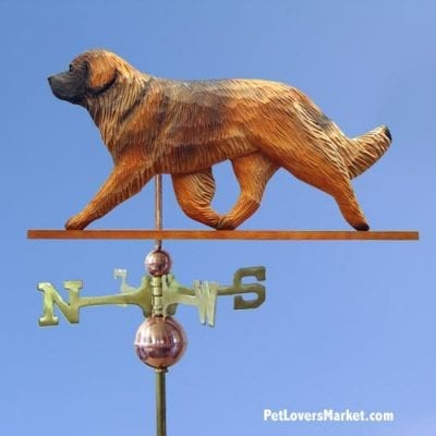 Weathervanes: Leonberger Dog Weathervane for Roof and Garden Decor. Weathervane made in USA. Gifts for Dog Lovers. Michael Park Woodcarver.