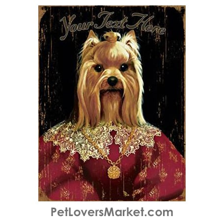 Picture of a Yorkie - Personalized Dog Gifts & Gifts for Dog Lovers