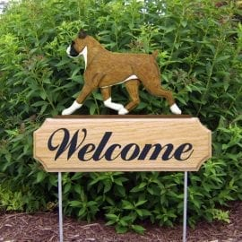 Welcome Sign: Boxer Dog Breed
