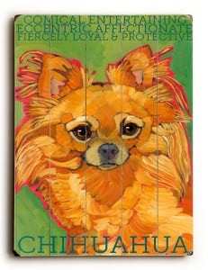 Dog Painting. Chihuahua Pictures. Wooden Sign. Dog Print. Dog Art. Gifts for Chihuahua Lovers.