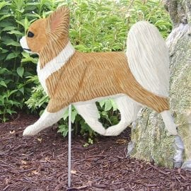 Chihuahua Statue (Long Haired): Dog Statues and Garden Statues