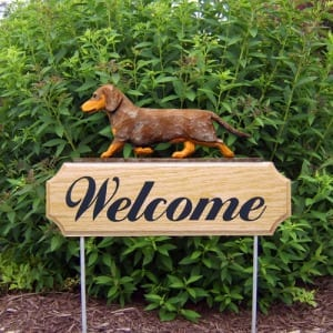 Welcome Sign & Garden Stake: Dachshund Dog Breed